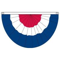 18x36 in. Nylon Red/White/Blue Fan