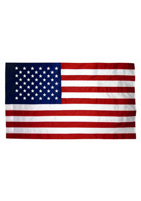 2x3 ft. Nylon U.S. Flag Pole Hem Plain