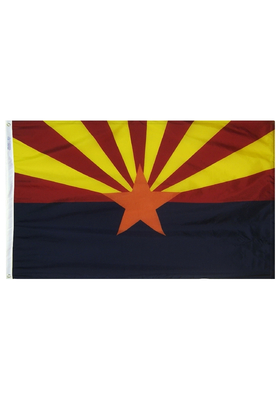 2x3 ft. Nylon Arizona Flag with Heading and Grommets