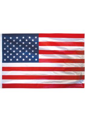 2.5x4 ft. Poly Cotton U.S. Flag Pole Hem Plain