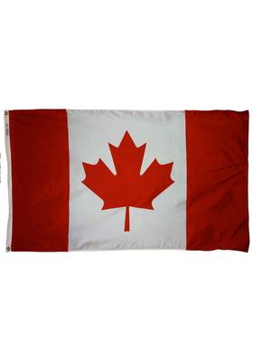 3x5 ft. Nylon Canada Flag Pole Hem Plain