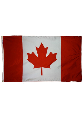 5x8 ft. Nylon Canada Flag with Heading and Grommets