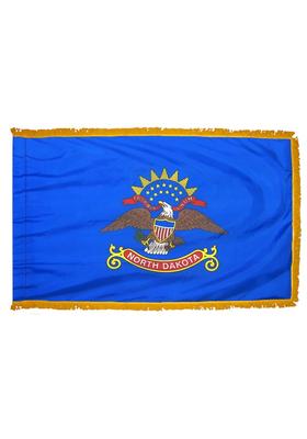 4x6 ft. Nylon North Dakota Flag Pole Hem and Fringe