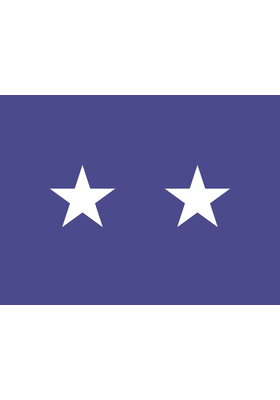 2 ft. x 3 ft. Air Force 2 Star General Flag w/Grommets