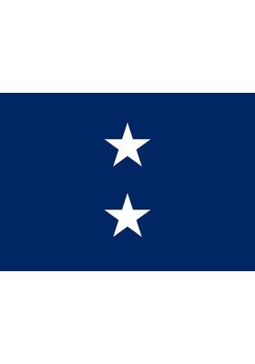 Navy 2 Star Admiral Flag Indoor Display Parade