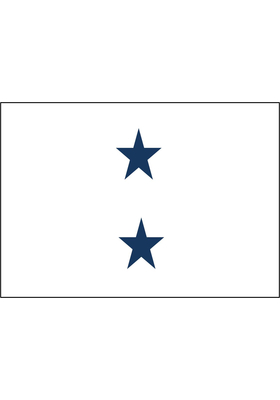 2 Ft X 3 Navy Star Non Seagoing Admiral Flag W
