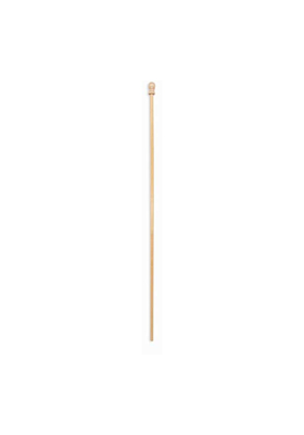 5 ft.x1 in. Varnished 1-PC Wood Pole Ball-6 Pack