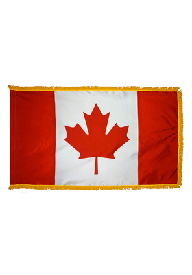 3x5 ft. Nylon Canada Flag Pole Hem and Fringe