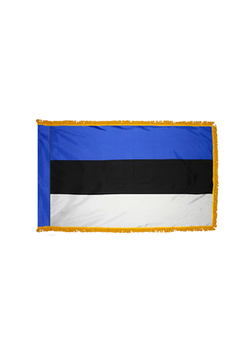 3x5 ft. Nylon Estonia Flag Pole Hem and Fringe