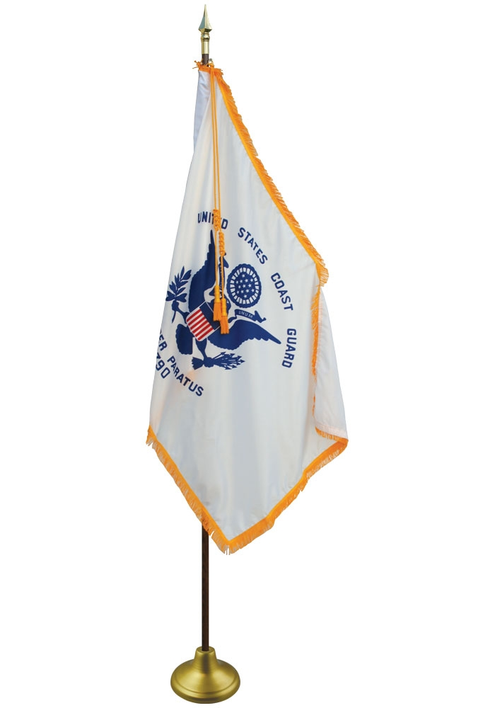 4 x 6ft  Coast Guard Flag Pole Sleeve Only Set-No Fringe